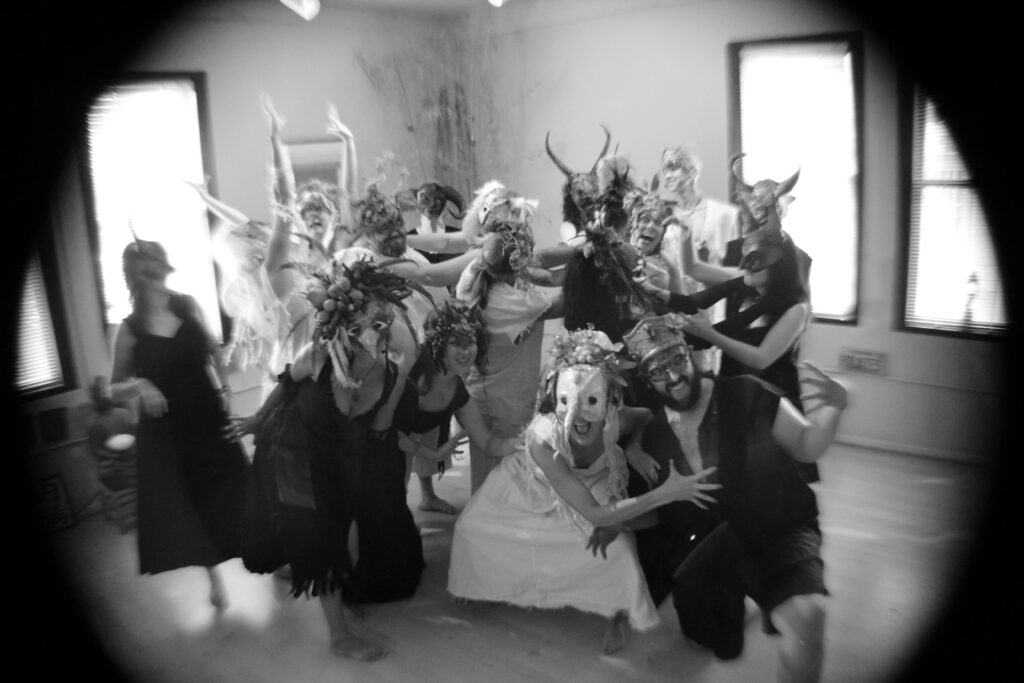 masked performers - group shot