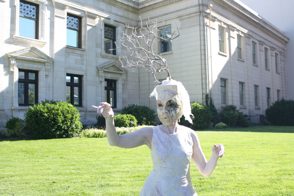 performer in white