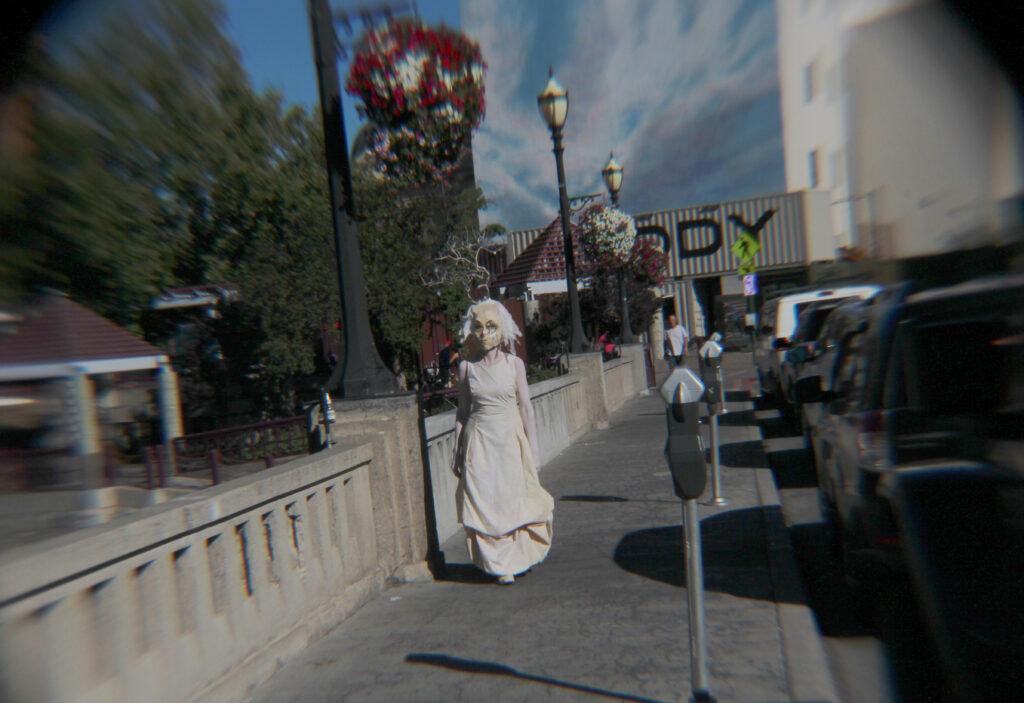 masked performance walking